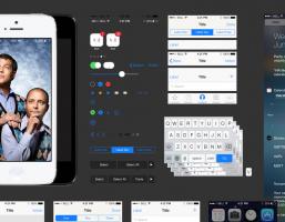 iOS7 인터페이스 PSD파일 from Teehan+lax