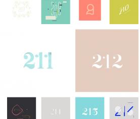 365일 매일 매일 숫자 하나씩 디자인하다.